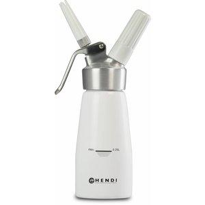 Hendi Schlagsahne Spray Geräte Weiß Aluminium - Küchenzeile - 0,5 Liter