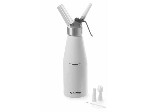 Hendi Schlagsahne Spray Weiß Aluminium - Küchenzeile - 1 Liter