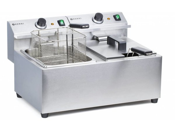 Hendi Electric Fryer | Master Cook | 2x8 Liter | 2x3,25 kW | 550x420x (H) 315mm