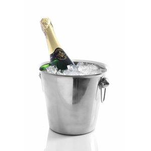 Hendi Wijnkoeler van RVS - met Ringoren - 3,3 Liter - Ø19cm x 19(h)cm