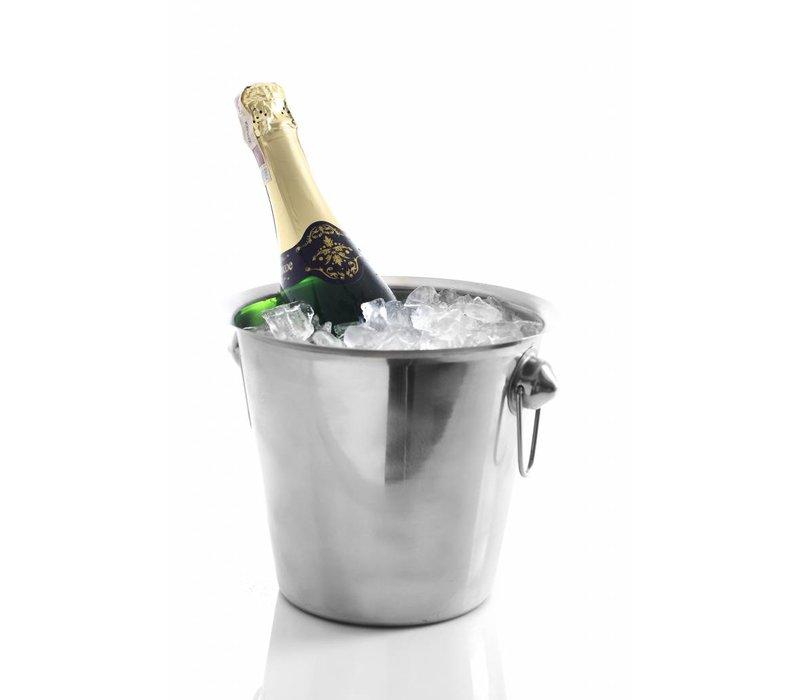 Hendi Weinkühler aus Edelstahl - mit Ring Ears - 3,3 Liter - ø19cm x 19 (H) cm