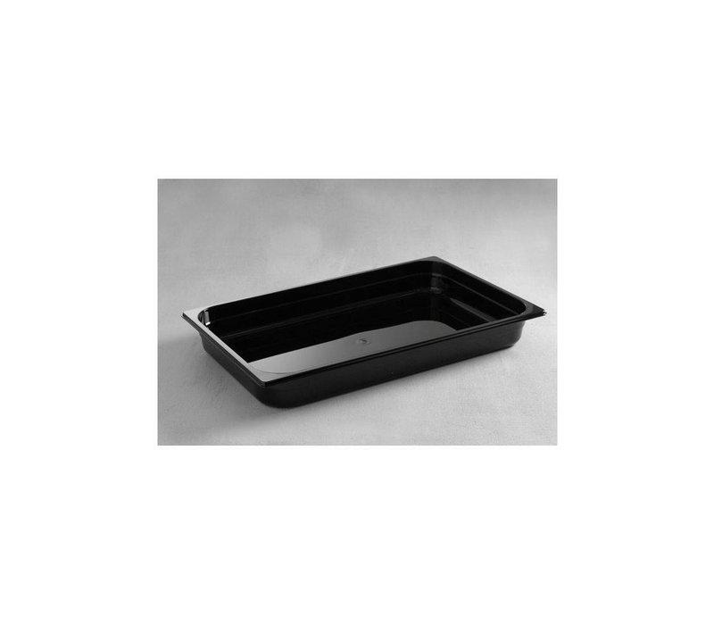 Hendi Gastronormbak 1/1 - 65 mm - black polycarbonate