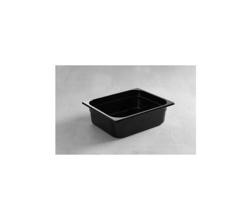 Hendi Gastronormbak half - 100 mm - black polycarbonate