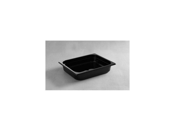 Hendi Gastronormbak half - 65 mm - black polycarbonate