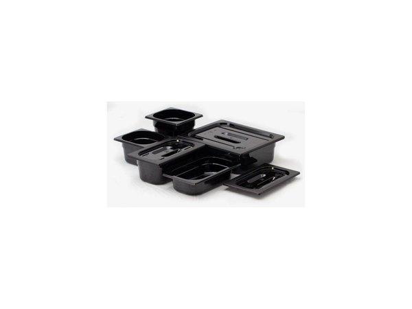 Hendi Gastronormbak 1/2 - 65 mm - zwart polycarbonaat