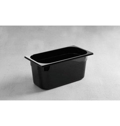 Hendi Gastronormbak 1/3 - 150 mm - zwart polycarbonaat