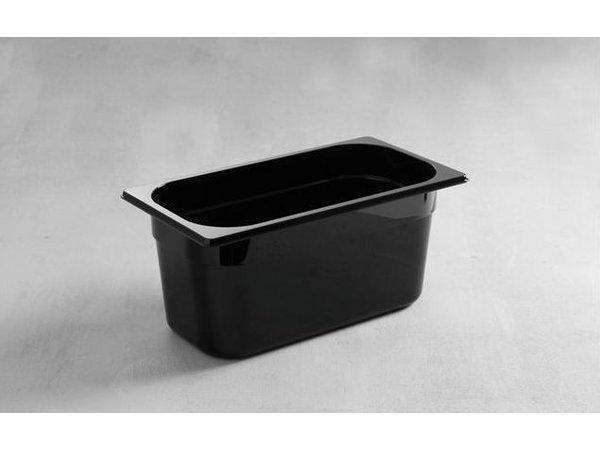 Hendi Gastronormbak 1/3 - 150 mm - black polycarbonate