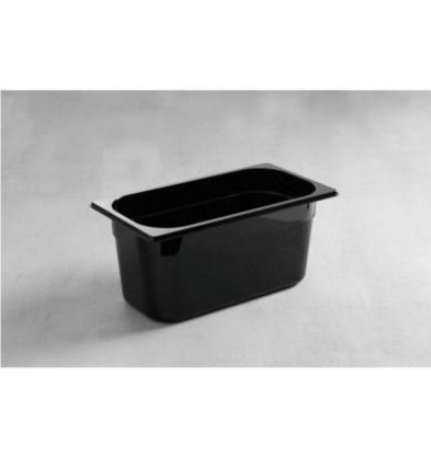 Hendi Gastronormbak 1/3 - 100 mm - black polycarbonate
