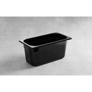Hendi Gastronormbak 1/3 - 65 mm - zwart polycarbonaat