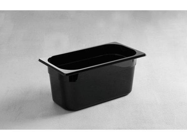 Hendi Gastronormbak 1/3 - 65 mm - black polycarbonate