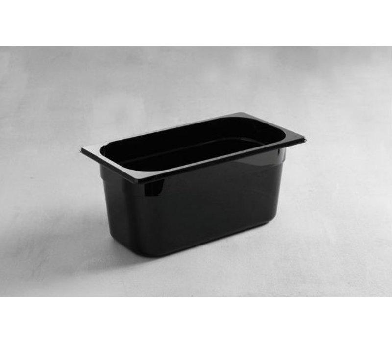Hendi Gastronormbak 1/3 - 65 mm - schwarz Polycarbonat