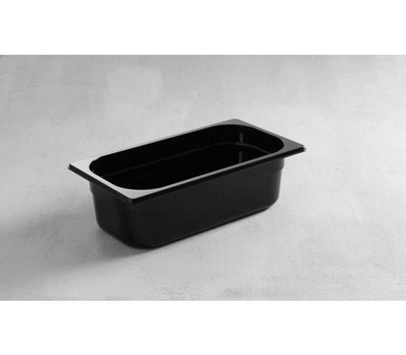 Hendi Gastronormbak 1/4 - 100 mm - black polycarbonate