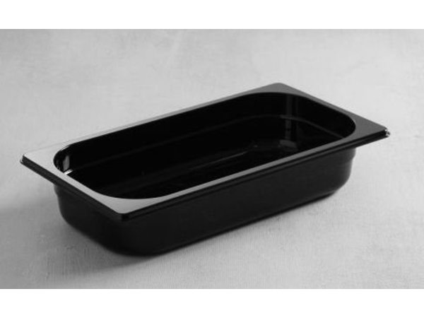Hendi Gastronormbak 1/4 - 65 mm - zwart polycarbonaat