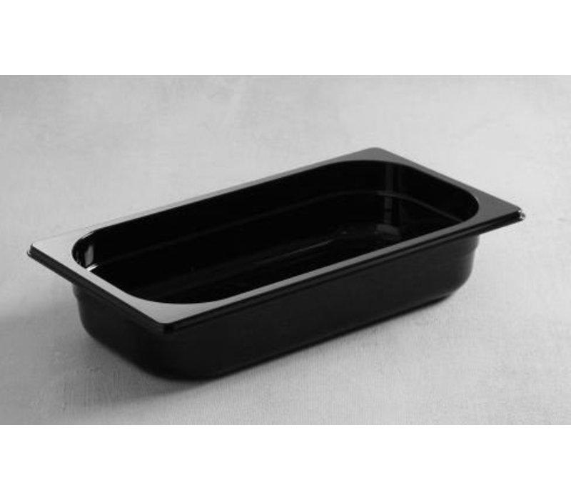 Hendi Gastronormbak 1/4 - 65 mm - schwarz Polycarbonat
