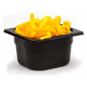 Hendi Gastronormbak sechsten - 150 mm - schwarz Polycarbonat