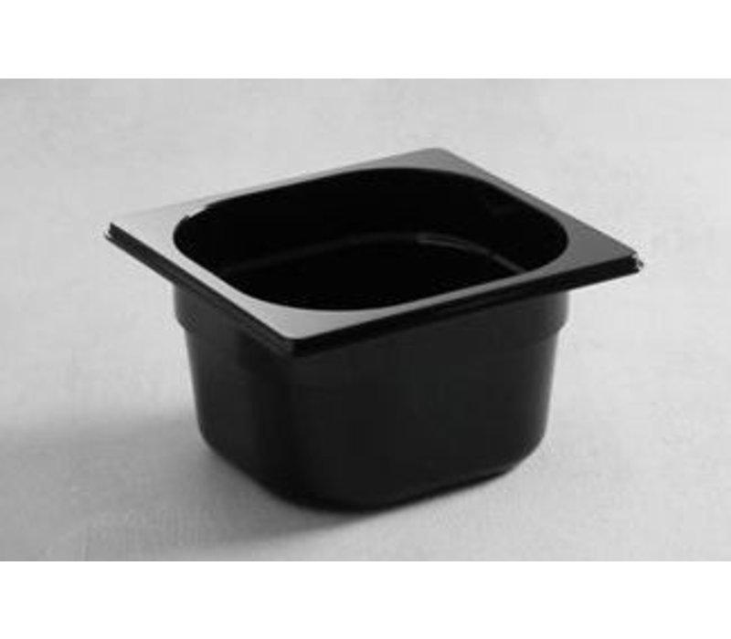 Hendi Gastronormbak 1/6 - 100 mm - zwart polycarbonaat