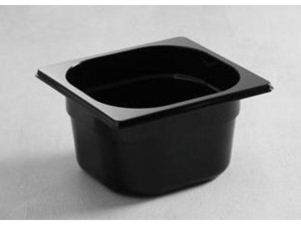 Hendi Gastronormbak 1/6 - 65 mm - zwart polycarbonaat