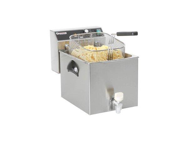 Hendi Fryer Meisterkoch | Mit Ablassventil | 8 Liter | 3,5kW | 270x470x (H) 325mm
