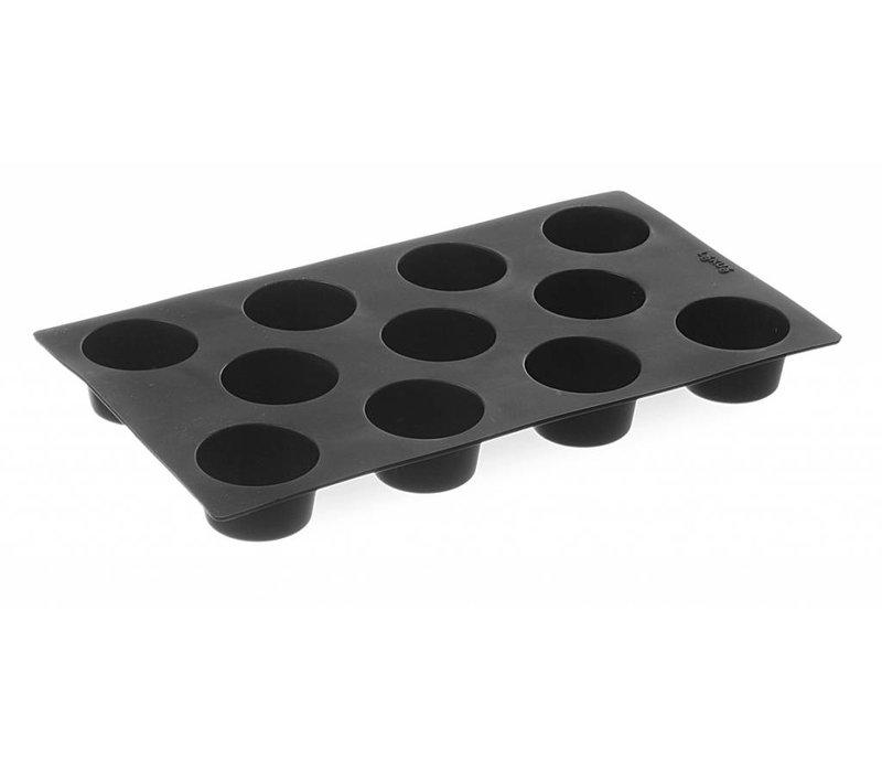 Hendi Silikon-Backform GN 1/3 - Mini Muffins 11-A sort 53x30 mm
