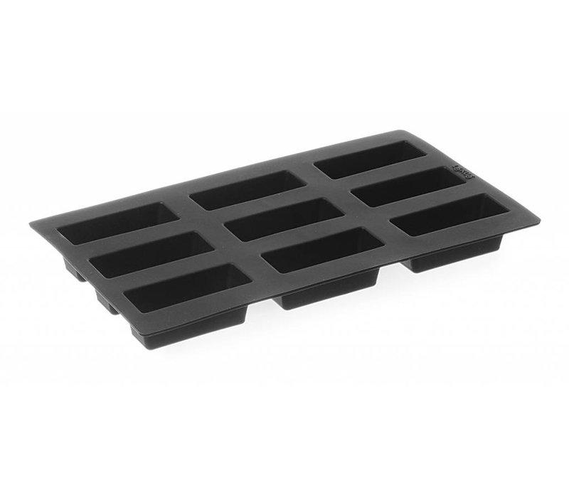 Hendi Siliconen bakvorm GN 1/3 - Mini-Cake 9-vorms 85x33x33 mm