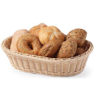 Hendi Bread Basket Oval - reinforced PP Rattan - 380x270x (h) 90mm