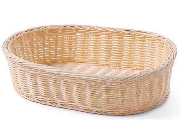 Hendi Bread Basket oval 380x270x90 mm - reinforced PP rattan