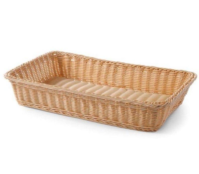 Hendi Bread Basket Rechteckig - Reinforced PP Rattan - 530x320x (h) 90 mm