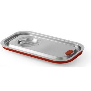 Hendi Gastronorm-Deckel z / uitsp. 1/2 | Silicon Border