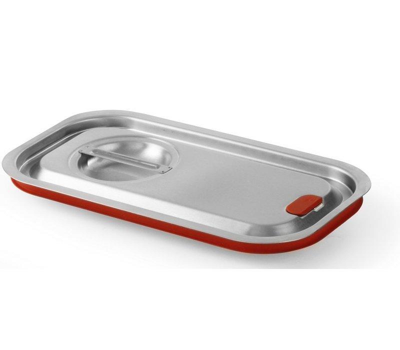 Hendi Gastronorm deksel z/uitsp. 1/2 | Siliconenrand