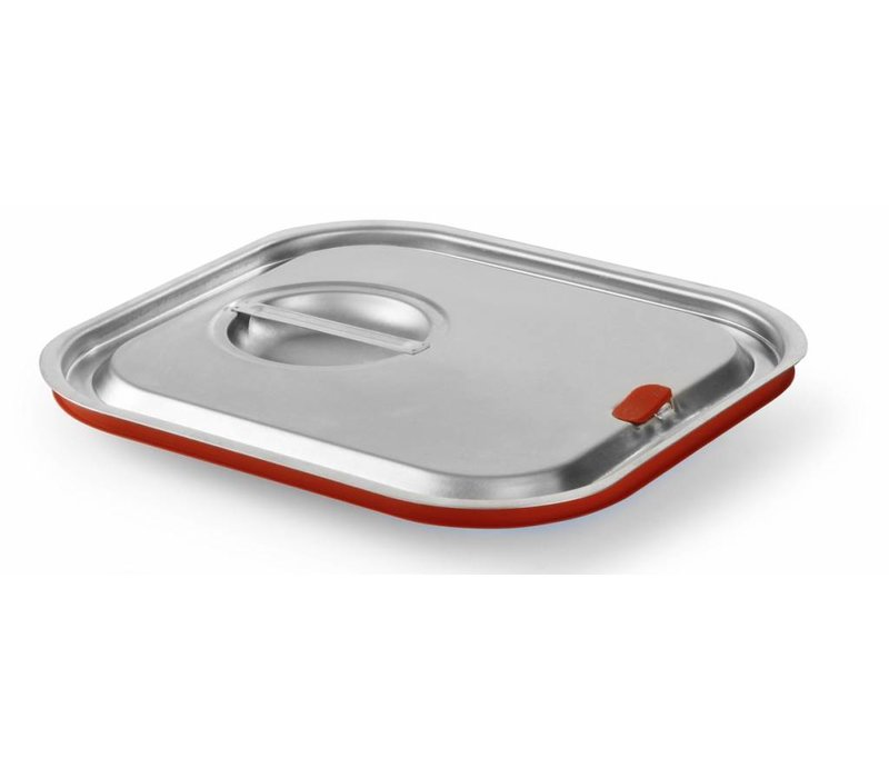 Hendi Gastronorm deksel z/uitsp. 2/3   Siliconenrand