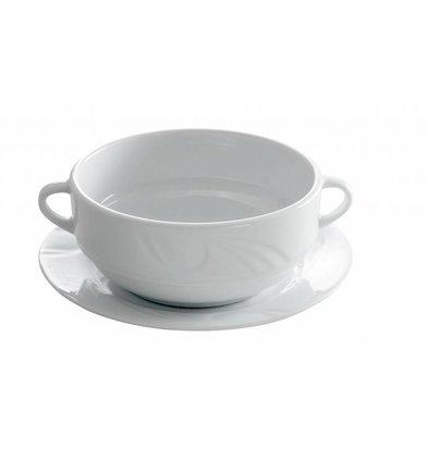 Hendi Dish - 180x17 mm - Karizma - Für Suppenschale - Weiß - Porzellan