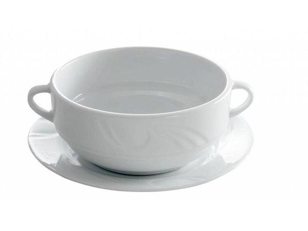 Hendi Dish - 180x17 mm - Karizma - For soup bowl - White - Porcelain