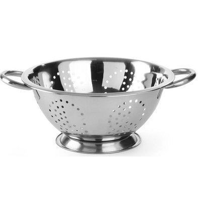 Hendi Colander Stainless steel kitchen   On Foot   With two Handles   Ø240x (H) 125mm