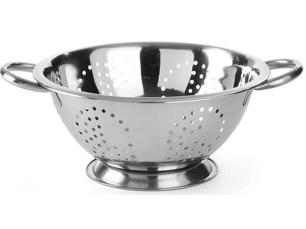 Hendi Colander Stainless steel kitchen | On Foot | With two Handles | Ø240x (H) 125mm