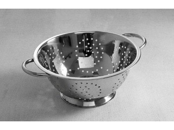 Hendi Colander Edelstahl-Küche | Zu Fuß | Mit zwei Griffen | Ø240x (H) 125mm