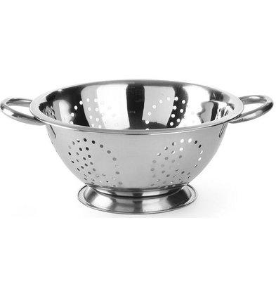 Hendi Colander Edelstahl-Küche | Zu Fuß | Mit zwei Griffen | Ø280x (H) 135 mm
