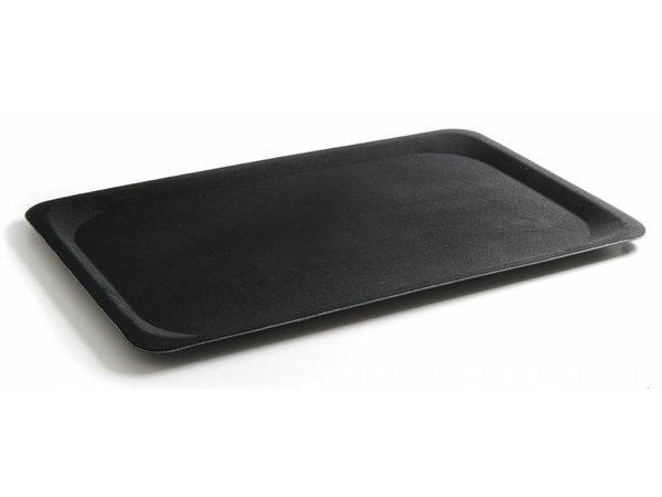 Hendi Tablett Schwarz Rechteckig | Glasfaserverstärktem Polyester | Anti-Rutsch-Beschichtung | 200x280 mm