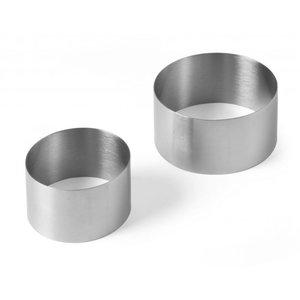 Hendi Pie Ring Edelstahl | Ø70x (H) 45 mm