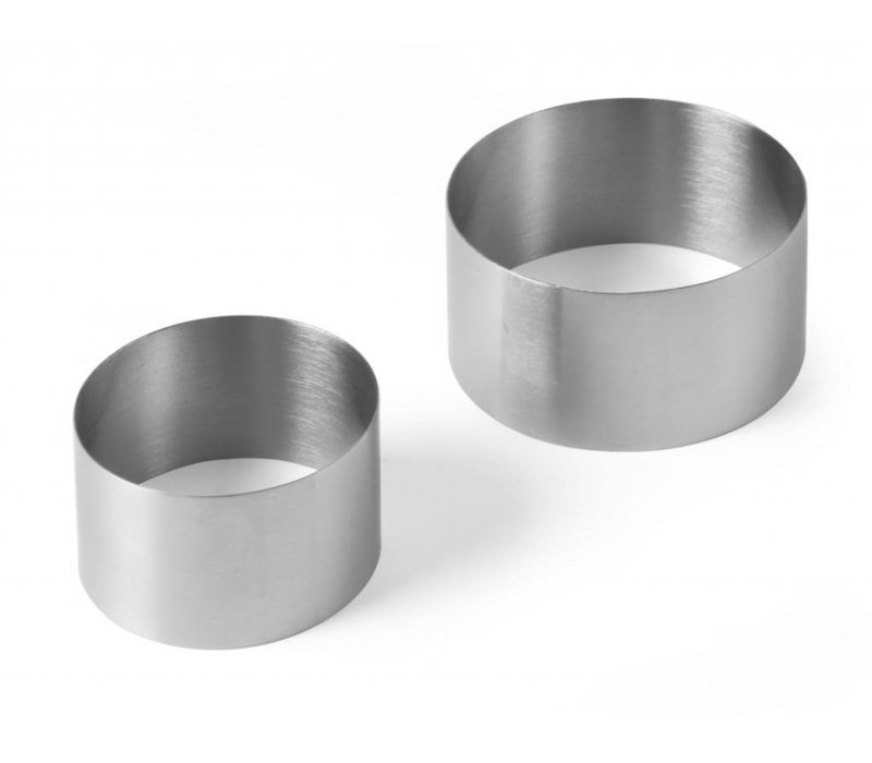 Hendi Pie Ring Edelstahl   Ø70x (H) 45 mm