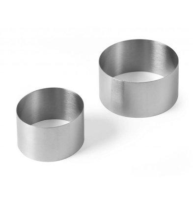 Hendi Pie Ring Edelstahl | Ø90x (H) 50 mm