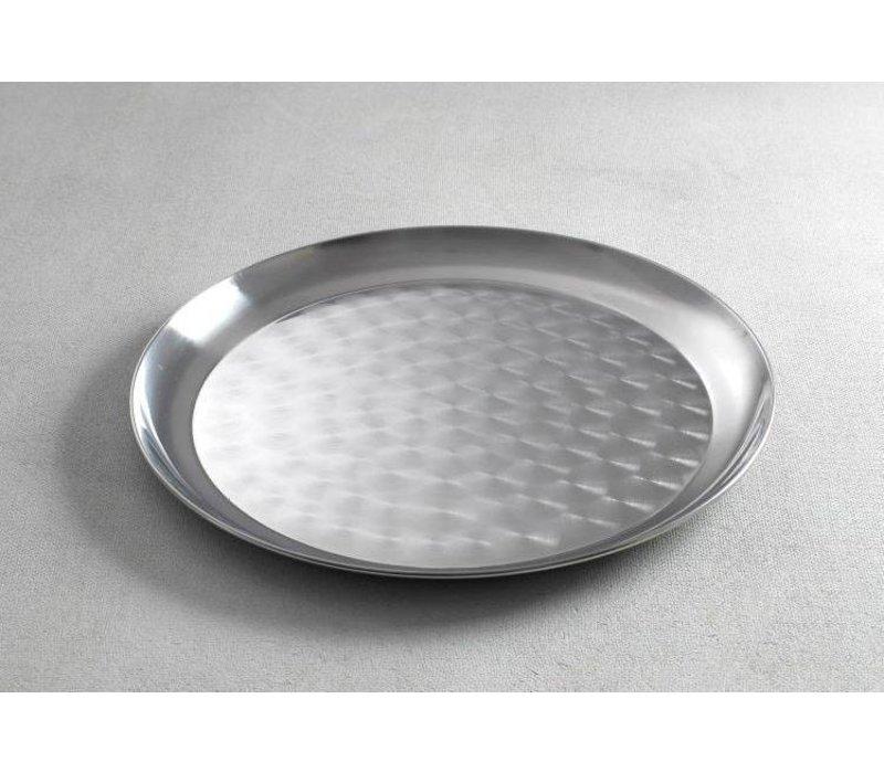 Hendi Tray Round | Brushed chrome steel | Ø350mm