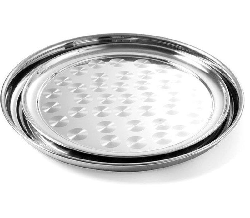 Hendi Dienblad Rond | Chroomstaal Geborsteld | Ø350mm