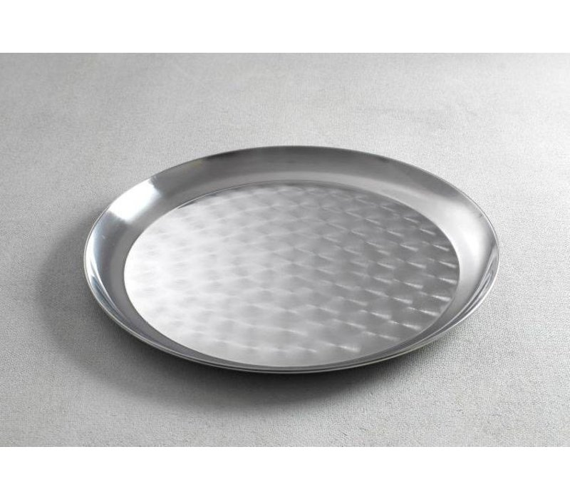 Hendi Tray Round | Brushed chrome steel | Ø400mm