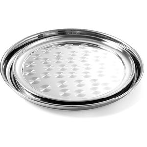 Hendi Tray Round | Brushed chrome steel | Ø400mm