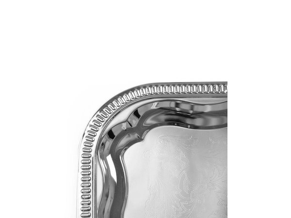 Hendi Party Platter Rectangle | Chrome | 410x310 mm