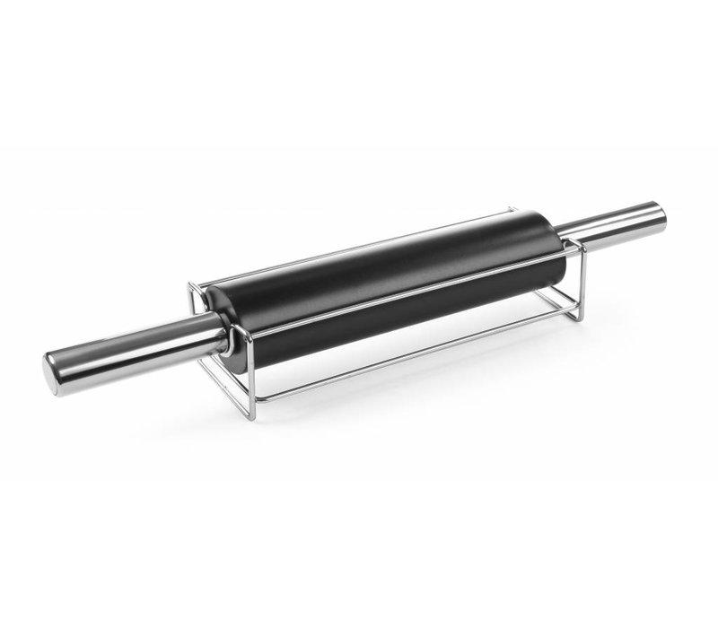 Hendi Deegroller RVS | Anti-aanplak | Met Verchroomde Standaard | 65x250/470mm