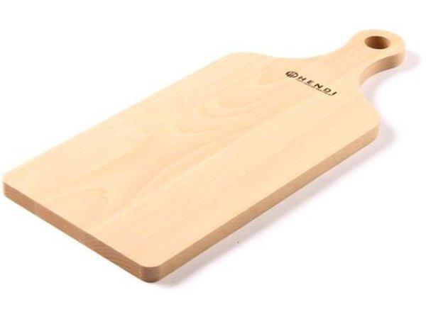 Hendi Cutting board 390x160x12 mm - solid beech with grip