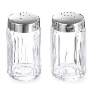 Hendi Glass Pfefferstreuer | Mit Kappe aus Edelstahl | Ø40x70mm