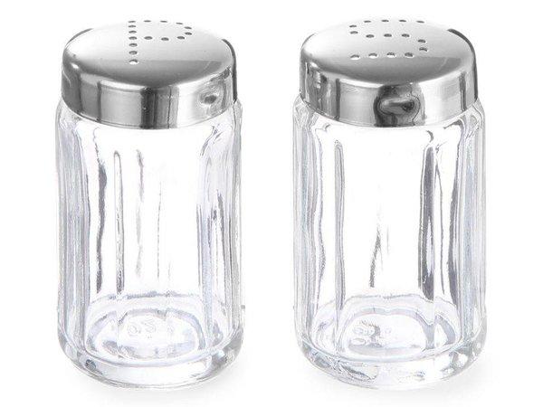 Hendi Glass pepper shaker   With stainless steel cap   Ø40x70mm