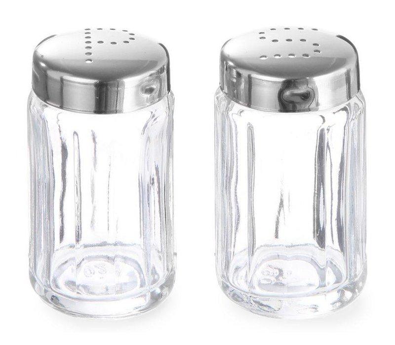 Hendi Glass Pfefferstreuer   Mit Kappe aus Edelstahl   Ø40x70mm